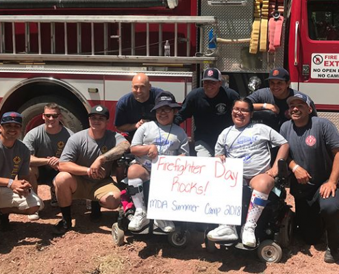 PHX Fire Fighters Join MDA Camp